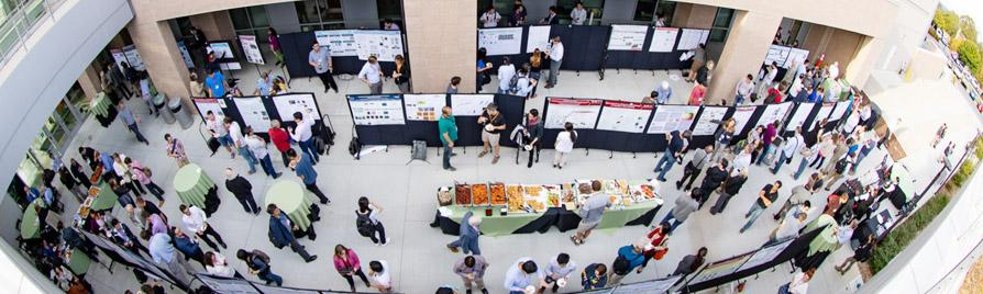 Photo: overview of poster presenters